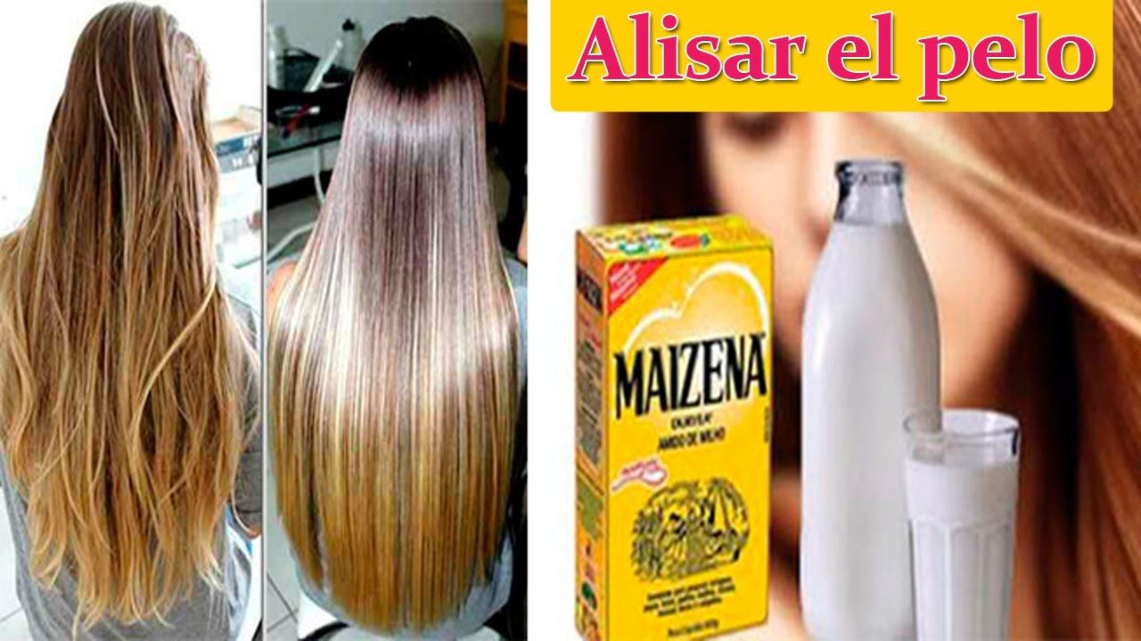 Como Alisar El Cabello Naturalmente Con Crema De Maizena Remedios Case Alisar Cabello Naturalmente Cabello Liso Natural Alisado De Cabello