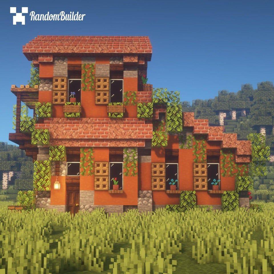 Une Idee De Design Pour Votre Maison Italienne Dans Minecraft Minecraft Architecture Cute Minecraft Houses Minecraft Houses