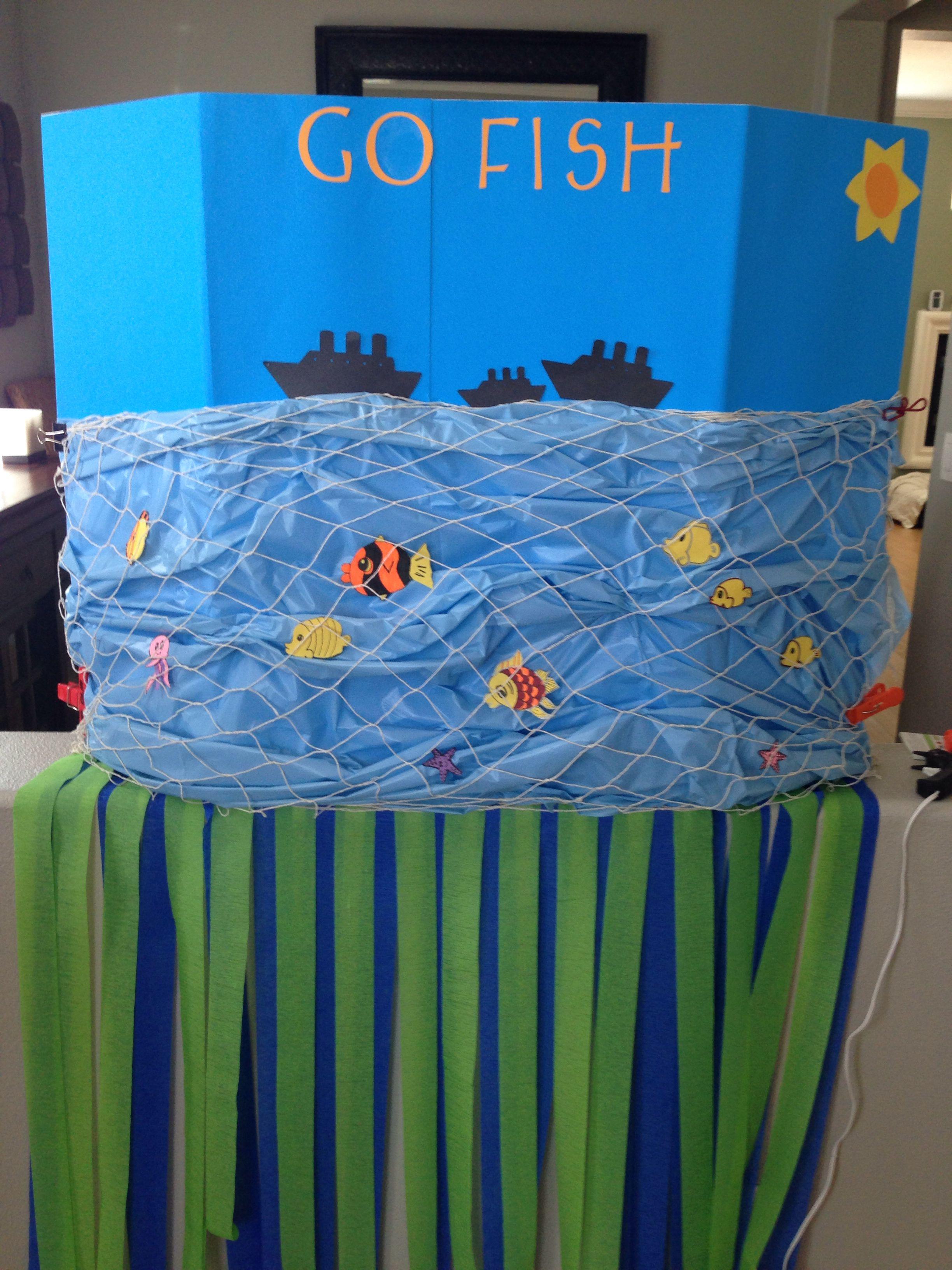 Go Fish a fun homemade carnival game! Homemade