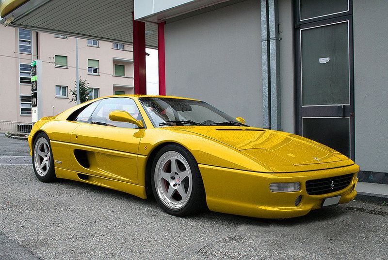 Yellow F355 With Hre Classic 305 With Images Ferrari Car