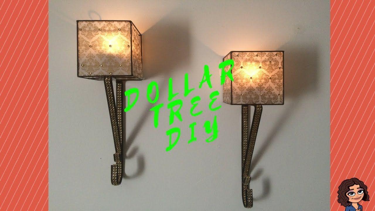 Dollar Tree Diy Black Gold Candle Wall Sconces I Wall Decor Diy