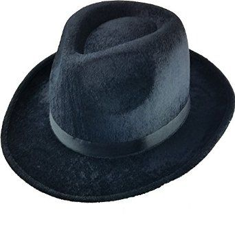 7f2d4337d0ea4 Amazon.com  Gangsta Fedora Black Pimp Hat  Costume Headwear And Hats   Clothing