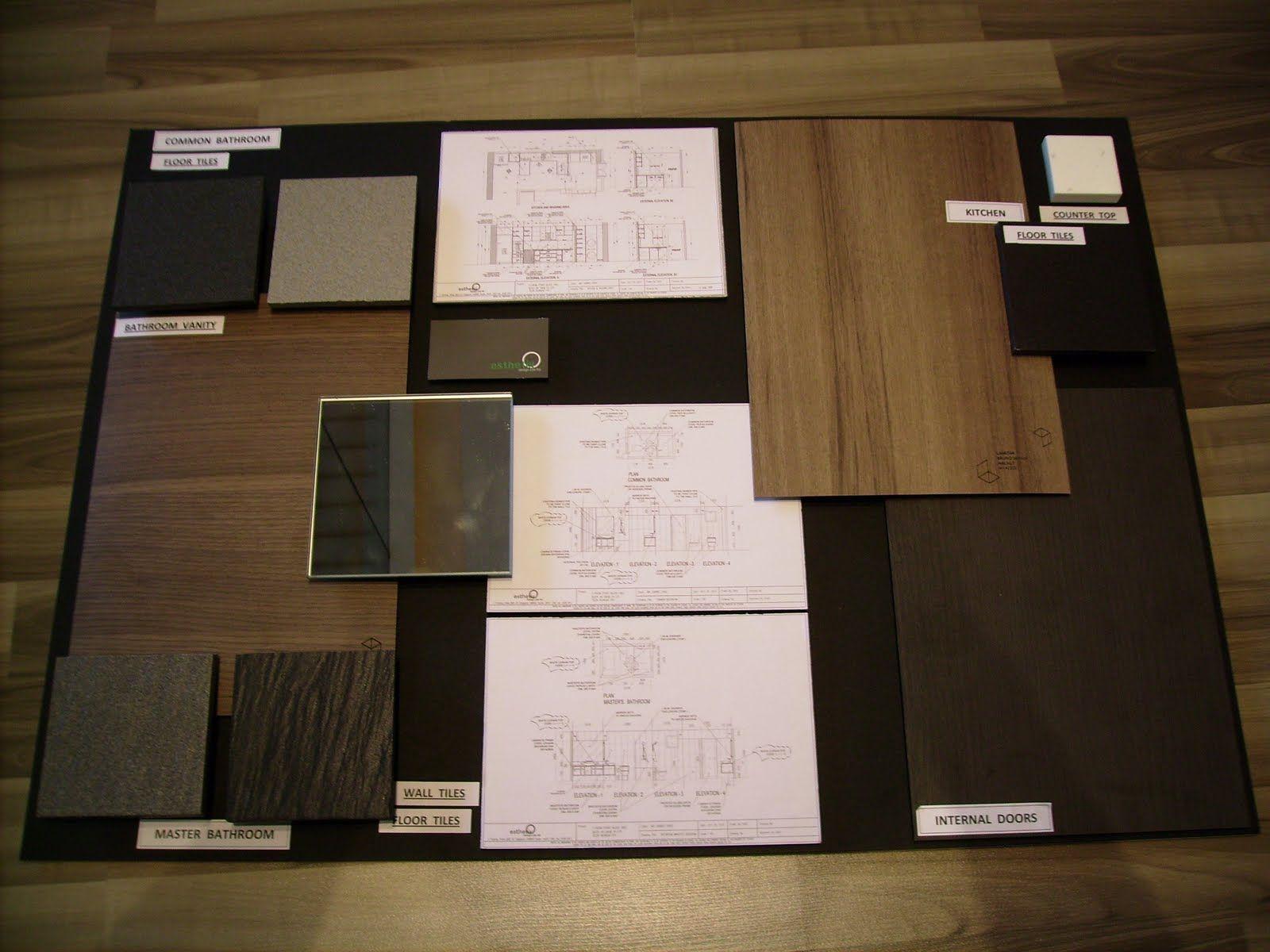 Material Board Interior Design Ideas