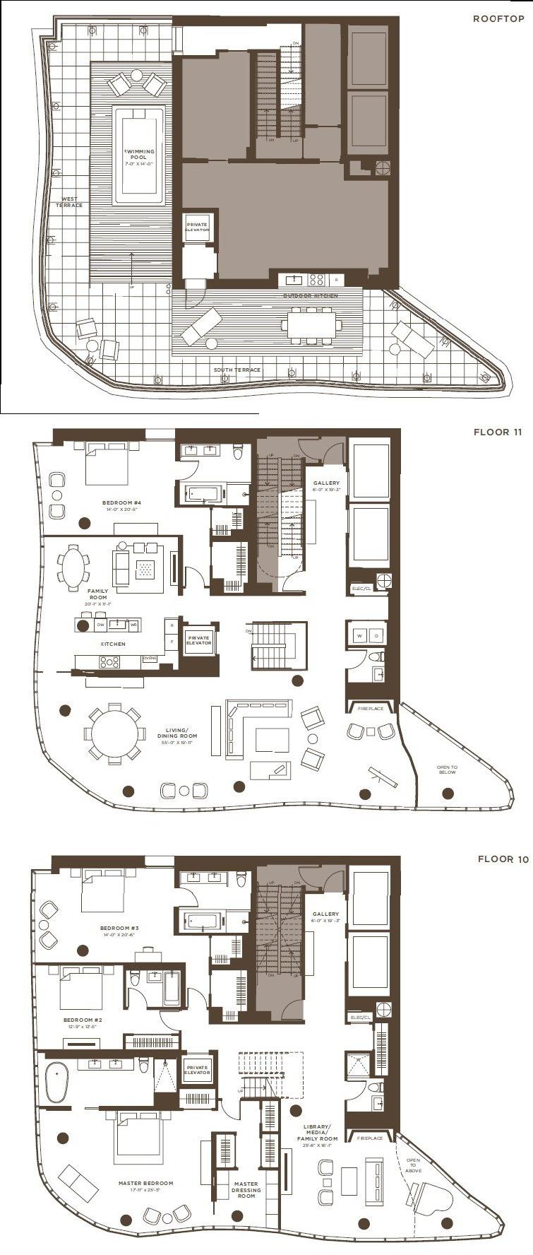 Home plans one jackson square kpf architect drawing jackson square penthouses condominium floor