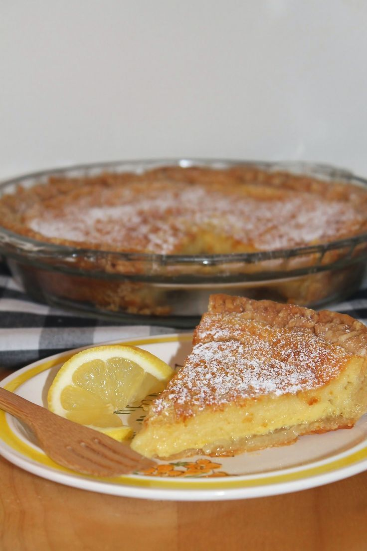 Food Photography: Lemon buttermilk pie Food Photography: Lemon buttermilk pie