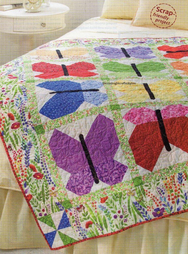 Beautiful Butterflies Quilt Pattern Pieced/Applique CM ... : butterflies quilt - Adamdwight.com