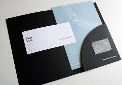 35 Creative Presentation Folder Designs for Identity Branding - resume holder