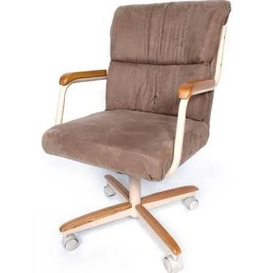 Office Chair Upholstered Rolling Arms Swivel  Google Search Pleasing Rolling Kitchen Chairs Inspiration