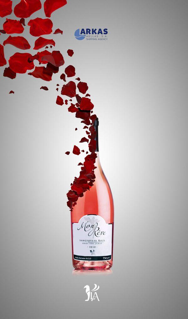La Wines Design By Koray Cengiz Wine Advertisement Wine Advertising Wine Design Wine Logo