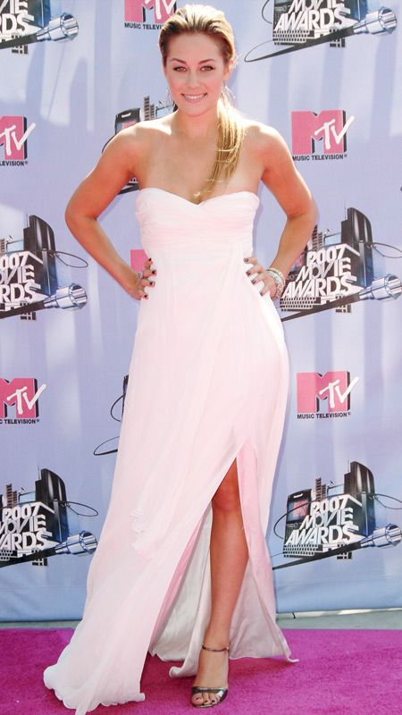 from #InStyle: Lauren Conrad's 10 Best Red Carpet Looks EVER - here in Pamella Roland, 2007