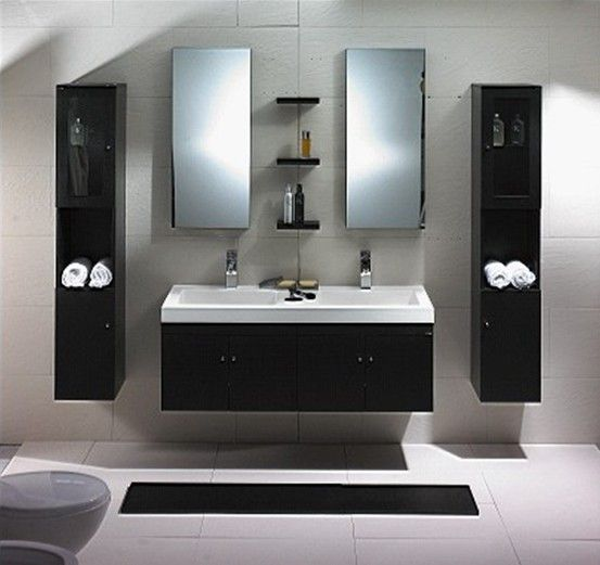 Modern Bathroom Vanity Set Dolciano With Images Modern Bathroom Modern Bathroom Vanity Bathroom Red