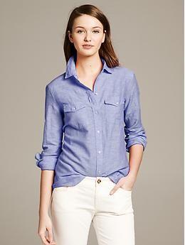 dc079b17ae3 Banana Republic Soft-Wash Utility Shirt in linen- cotton  work  casual  want