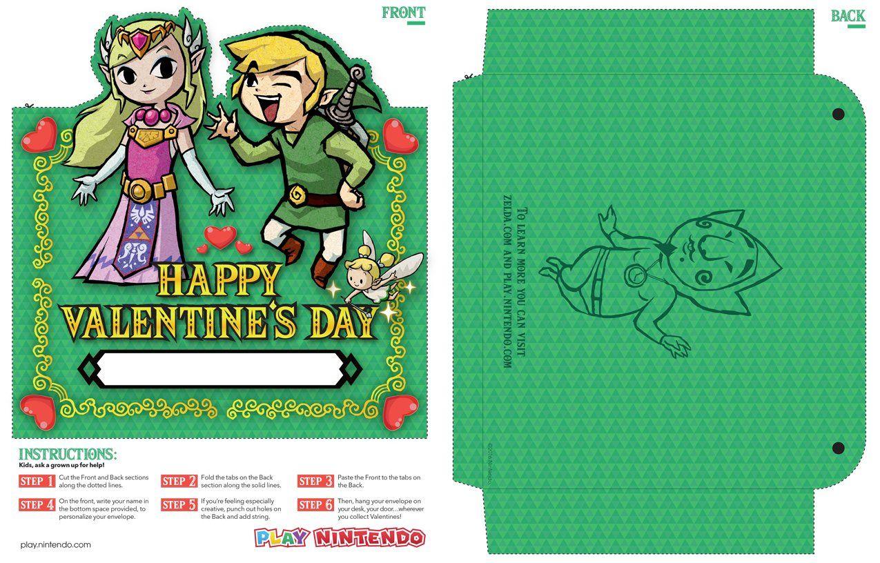 Nintendo Legend Of Zelda Valentine Card Collector Jpg Legend Of
