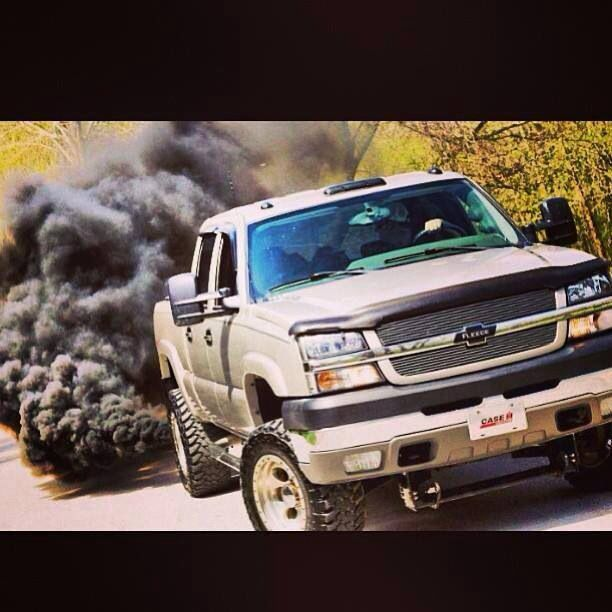 Chevy duramax rolling coal