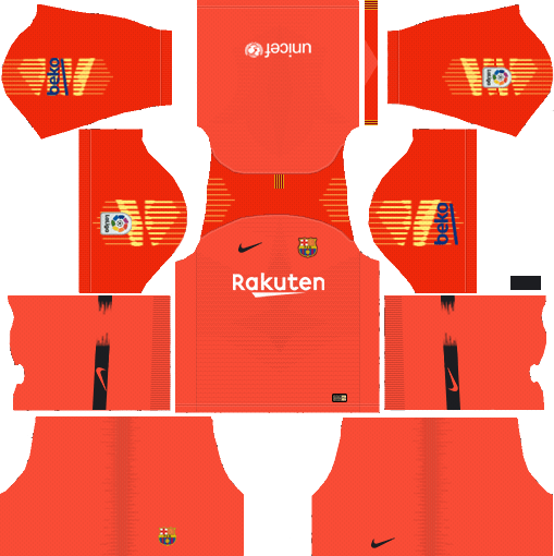 Barcelona Kits Logo 2018 2019 Dream League Soccer Equipo De Barcelona Uniforme Del Barcelona Camiseta Del Barcelona