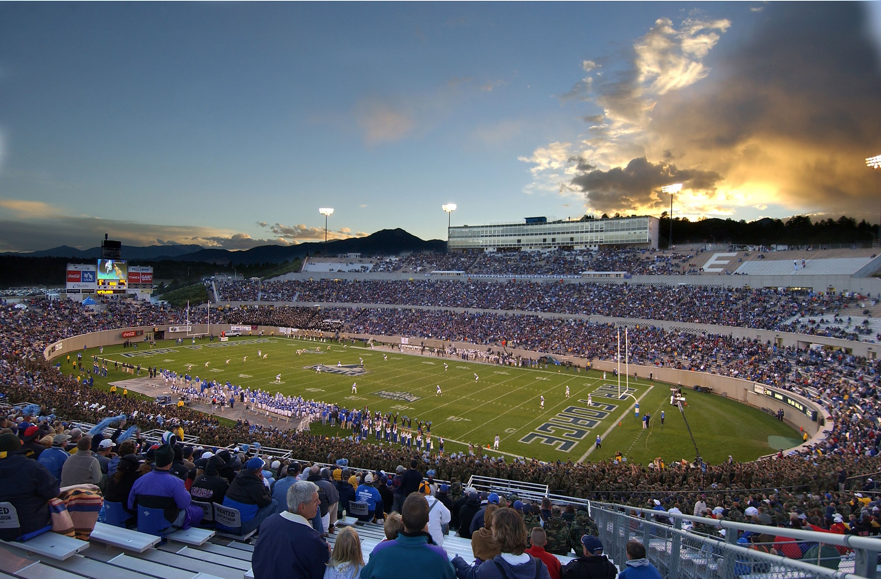 Falcon Stadium is home to the US Air Force Academy's