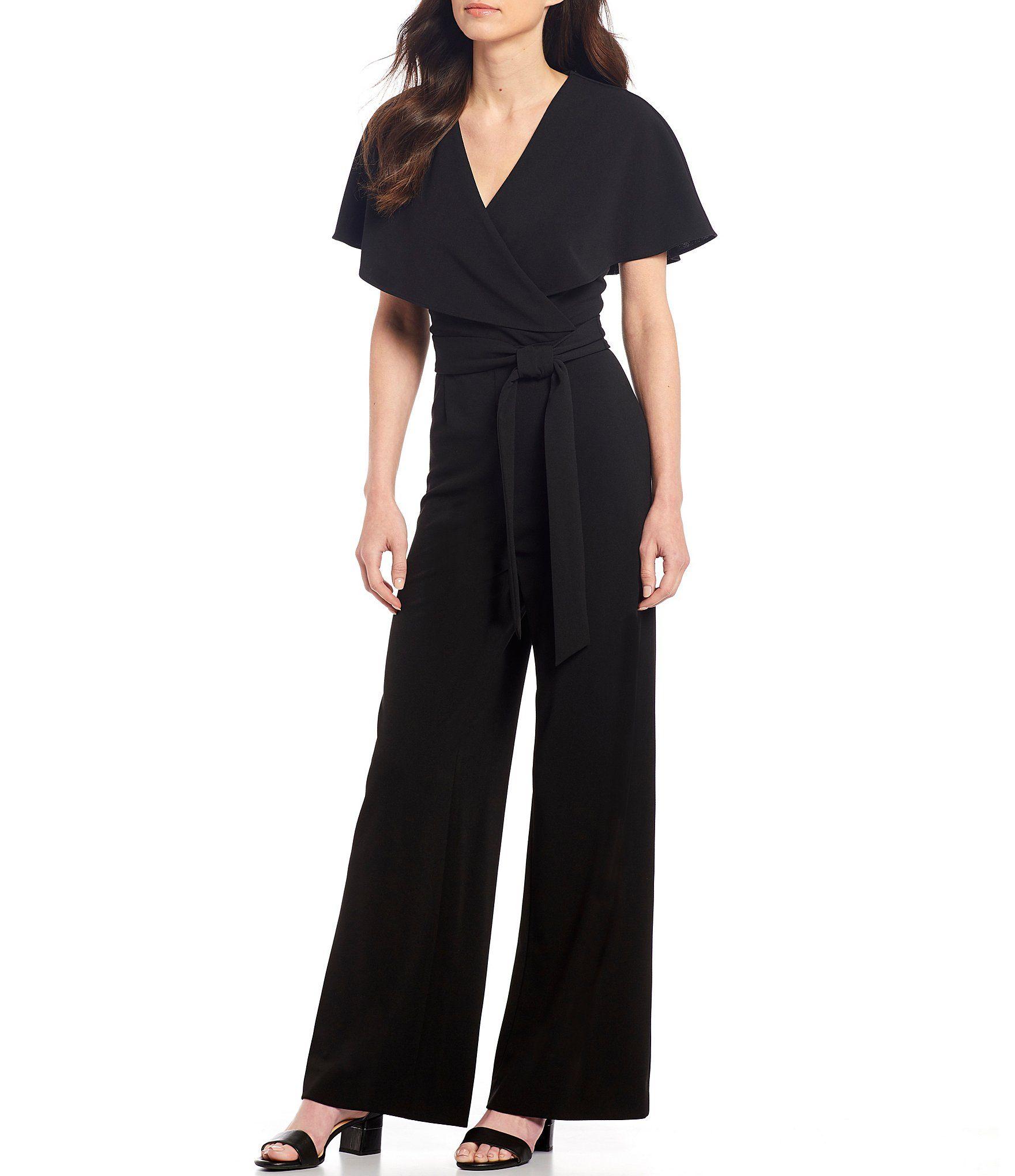 Alex Marie Beth Wrap Cape Sleeve Machine Washable Jumpsuit Dillard S In 2021 Black Dresses Classy Fancy Jumpsuit Elegant Jumpsuit Classy [ 2040 x 1760 Pixel ]