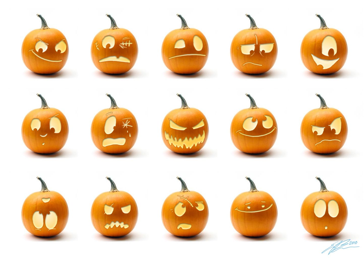 Scary Pumpkin Faces | the Amateur Zoologist: Halloween Fun | Craft ...