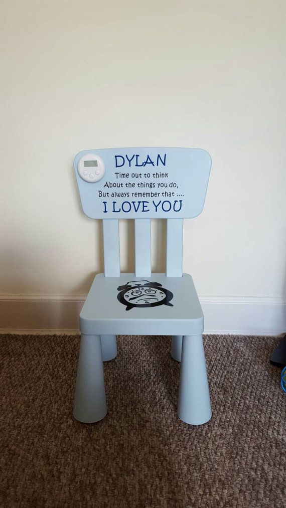 Childrens Time Out Naughty Step Chair By Craftyamaze On