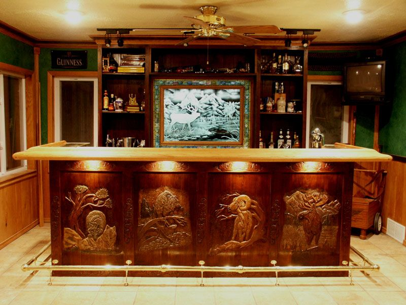 Custom Wood Home Bars | Check Out The Feature Of Our Bar On  Www.carvingpatterns
