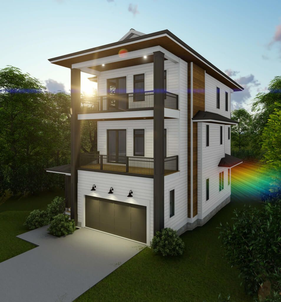 Kalena Lola | Minimalist house design, Narrow lot house ...