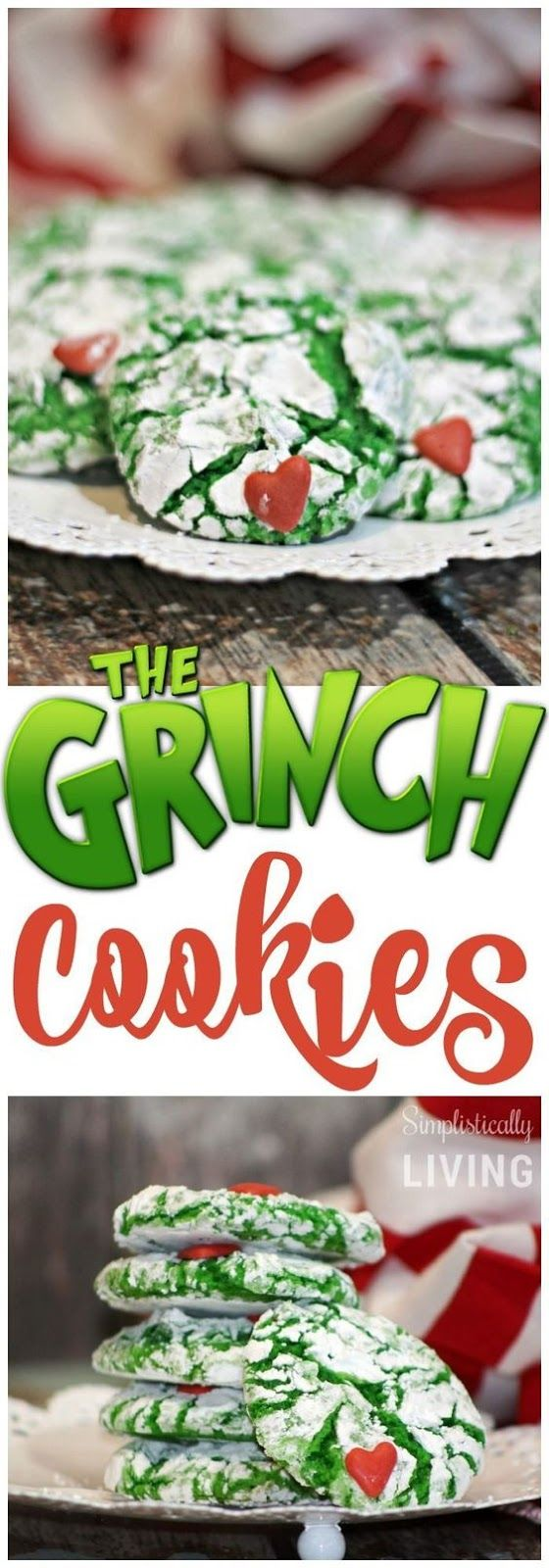CRINKLY, CRANKY, GRINCH COOKIES #grinchcookies