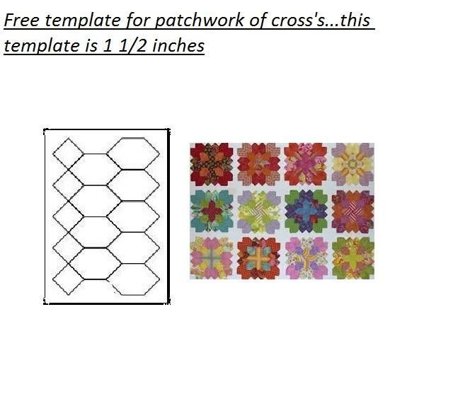 Patchwork of Cross\'s Template free on Craftsy at http://www.craftsy ...
