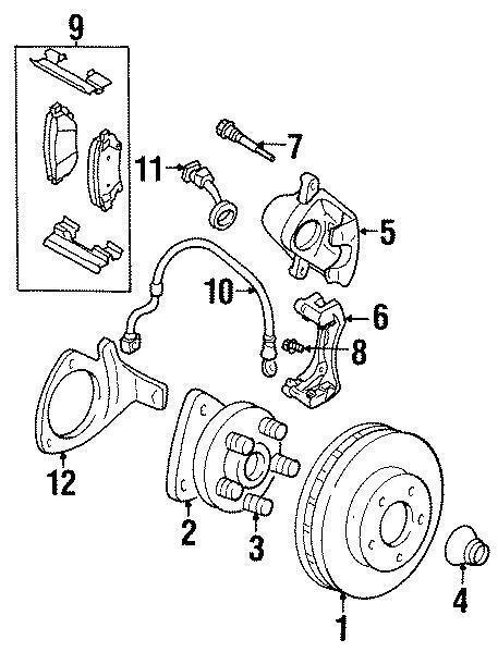 99 17 Disc Brake Caliper Bracket Mounting Bolt Rear Front
