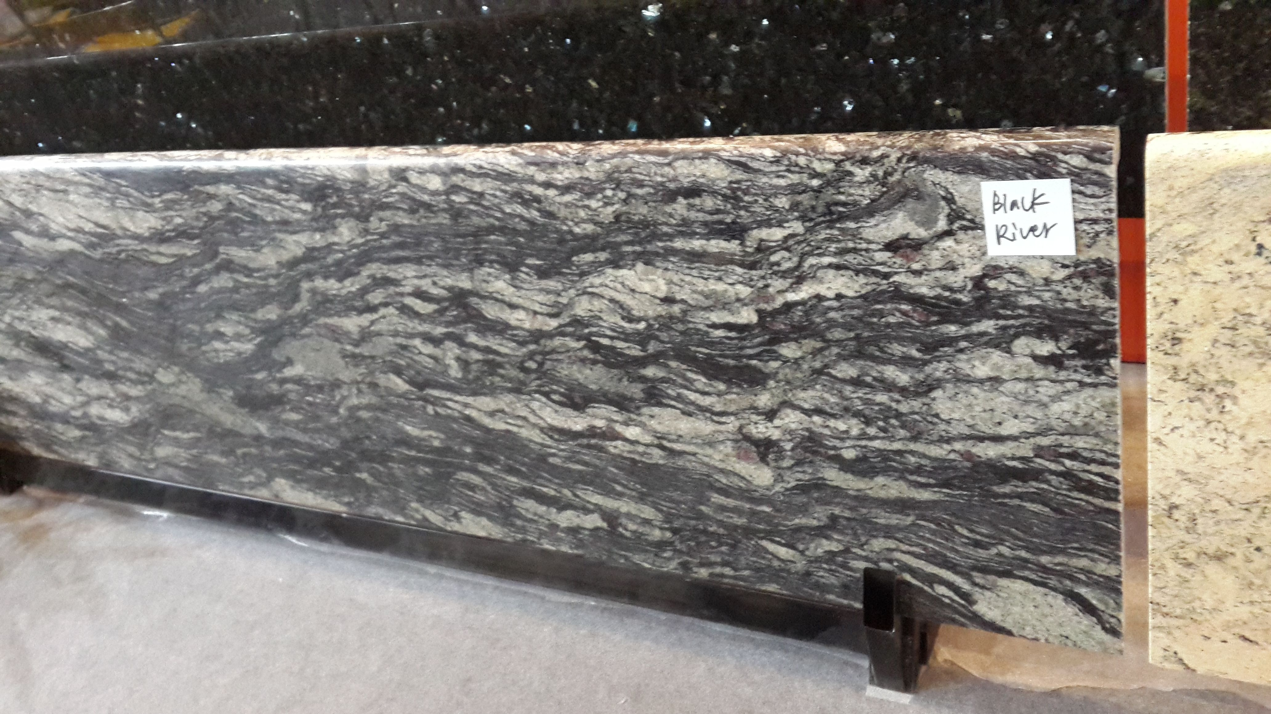 Newstar stone black river granite countertop China factory Prefab ...