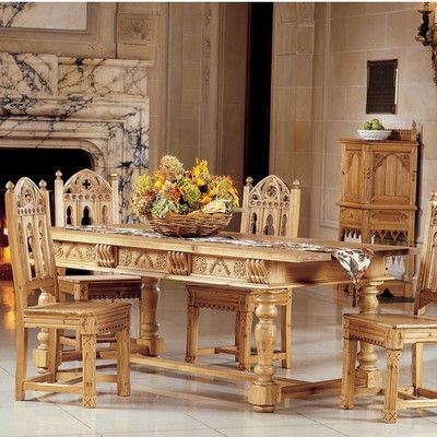 Design Toscano Sudbury Solid Pine Dining Table