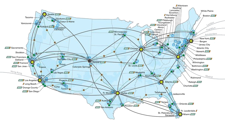 Global IT Network And Data Center Map Coverage Maps Pinterest - Us fiber map