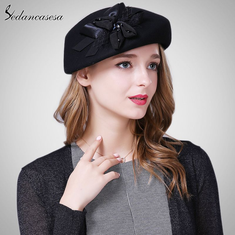 Korean Autumn Winter lady Hat Female British wool Beret cap with Australian  Wool Berets Hat Sweet Gift What a beautiful image  shop  beauty  Woman s  fashion ... cc9af0c78301