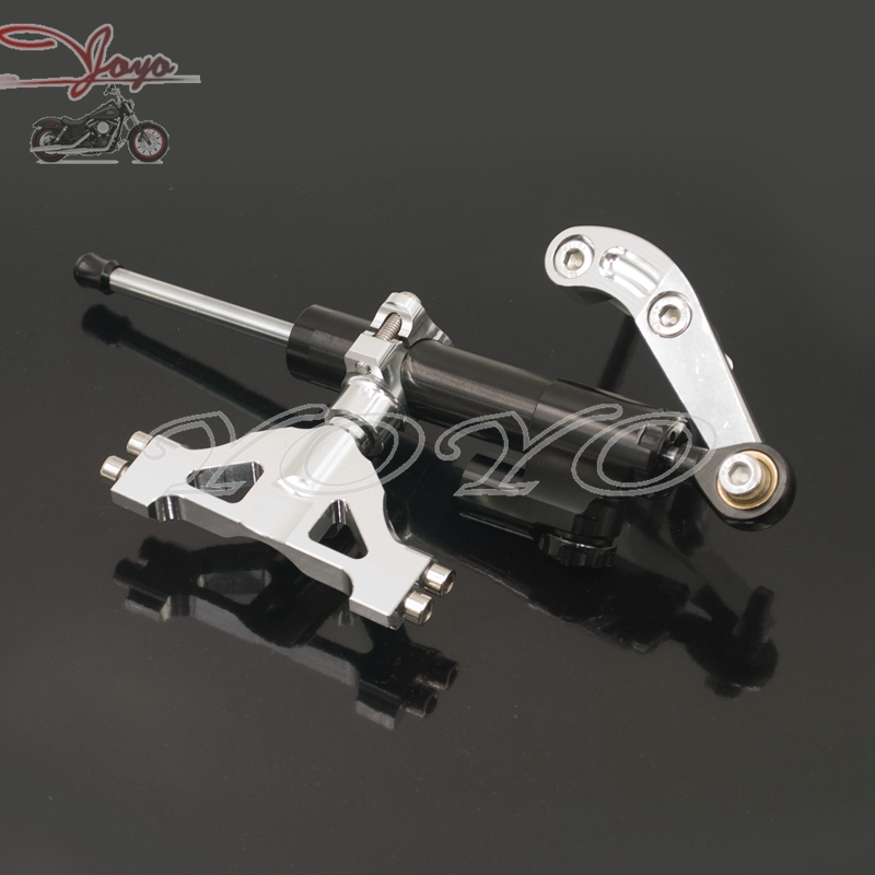 81.80$  Watch now - http://alimn9.worldwells.pw/go.php?t=32678493833 - Motorcycle Steering Damper Kit With Bracket for Kawasaki ZZR1400 ZX14R ZX-14R 2006-2015 81.80$