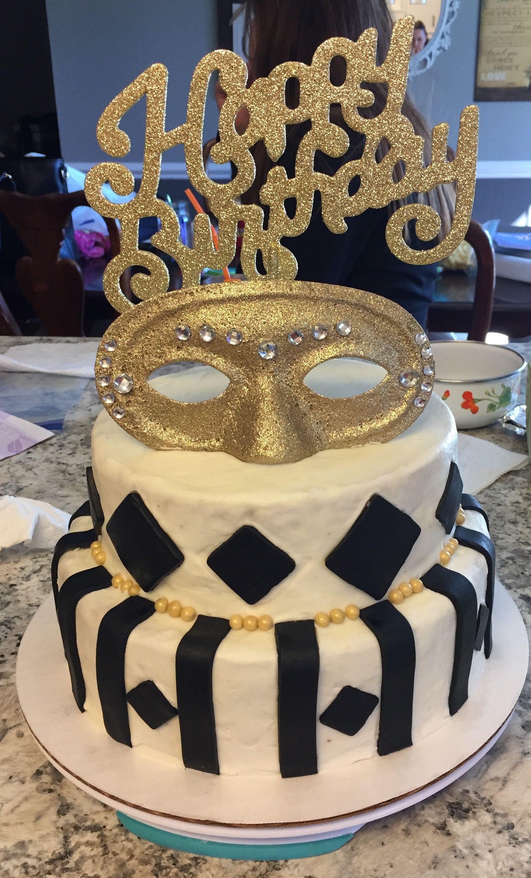 Masquerade Birthday Cake Cakescupcakes Pinterest Masquerades
