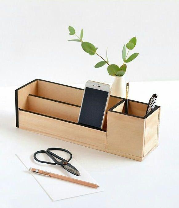 Organizador escritorio wood pinterest organizadores bricolaje y madera - Organizador de escritorio ...