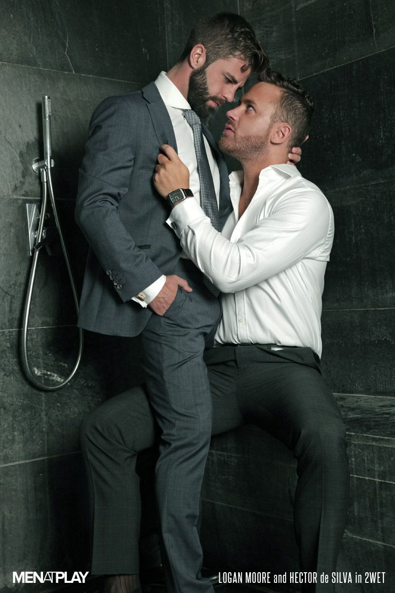 Gay fun with men in suites and ties