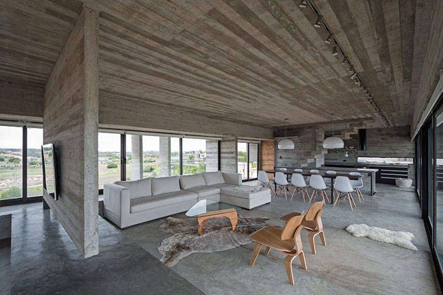 Concrete blocks house in buenos aires buenos aires concrete and house