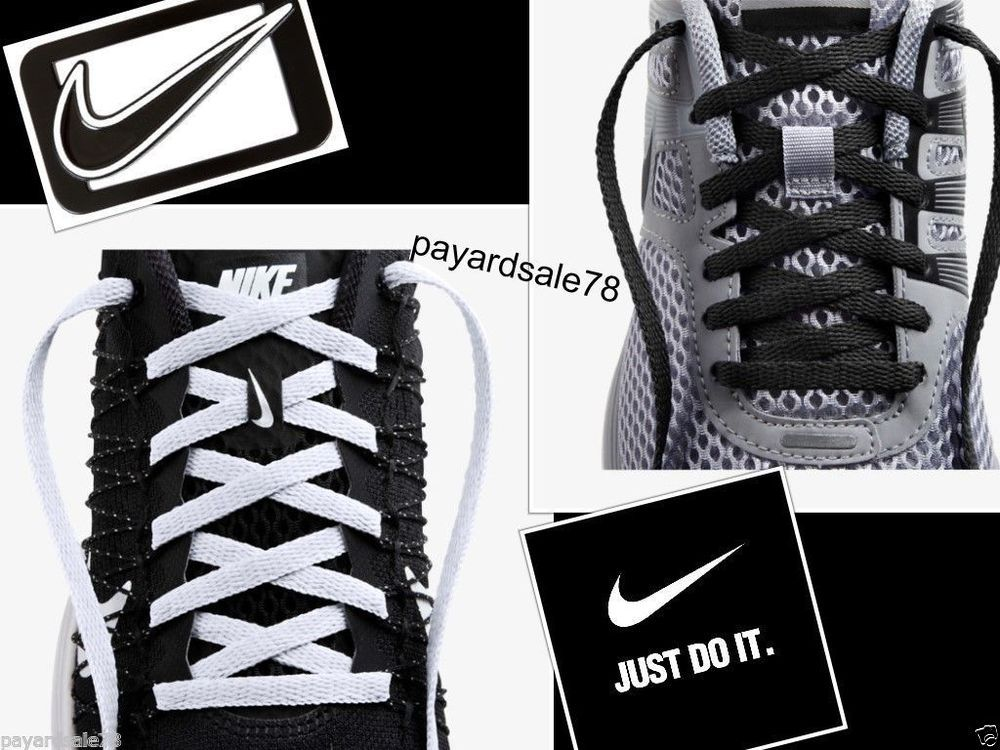 nike black shoes with white shoelaces