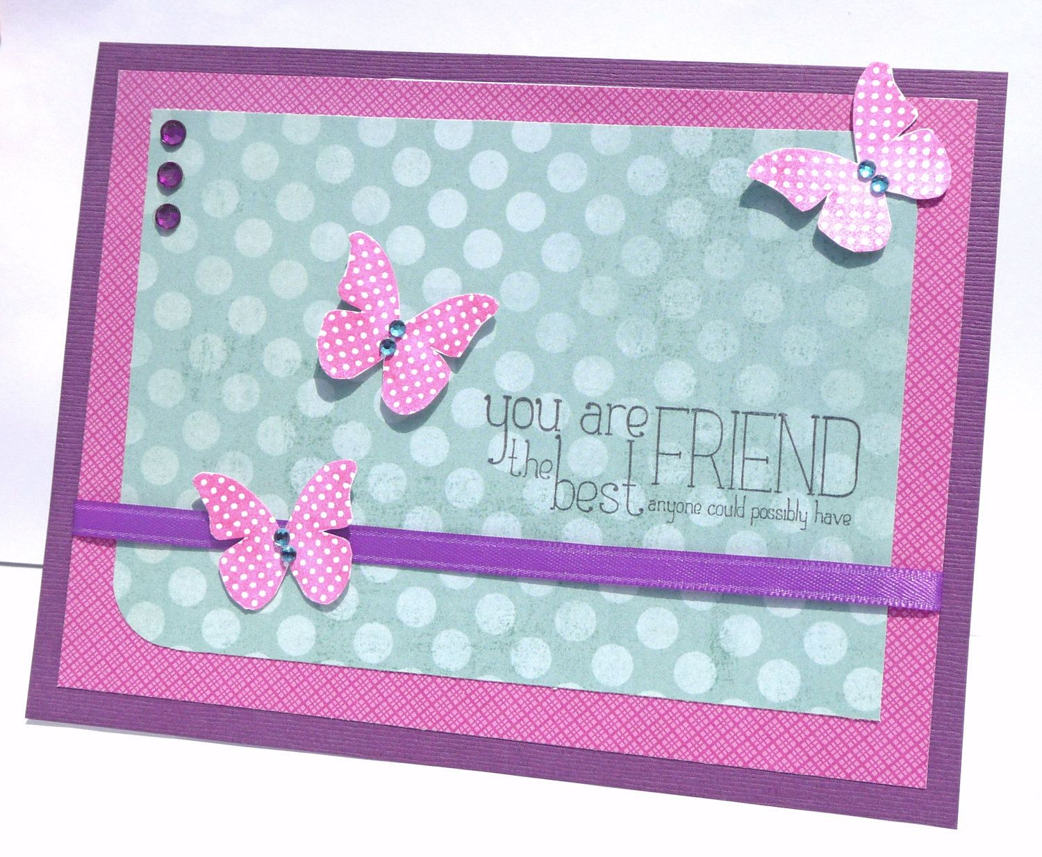 Best Friend Birthday Card Handmade Paper Greeting Card
