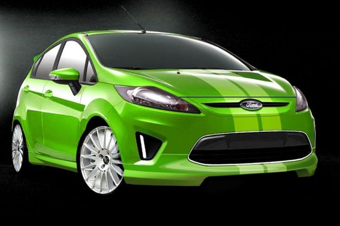 Modifikasi Ford Fiesta Hijau Mobil Hijau