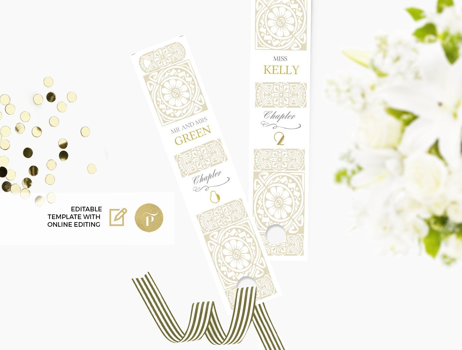 Bookmark Story Book Classic Place card template, Screen