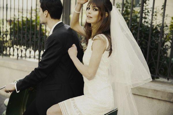 60ies Wedding Dress.60s Vibe Adventure Fun Love Bardot Inspired Wedding