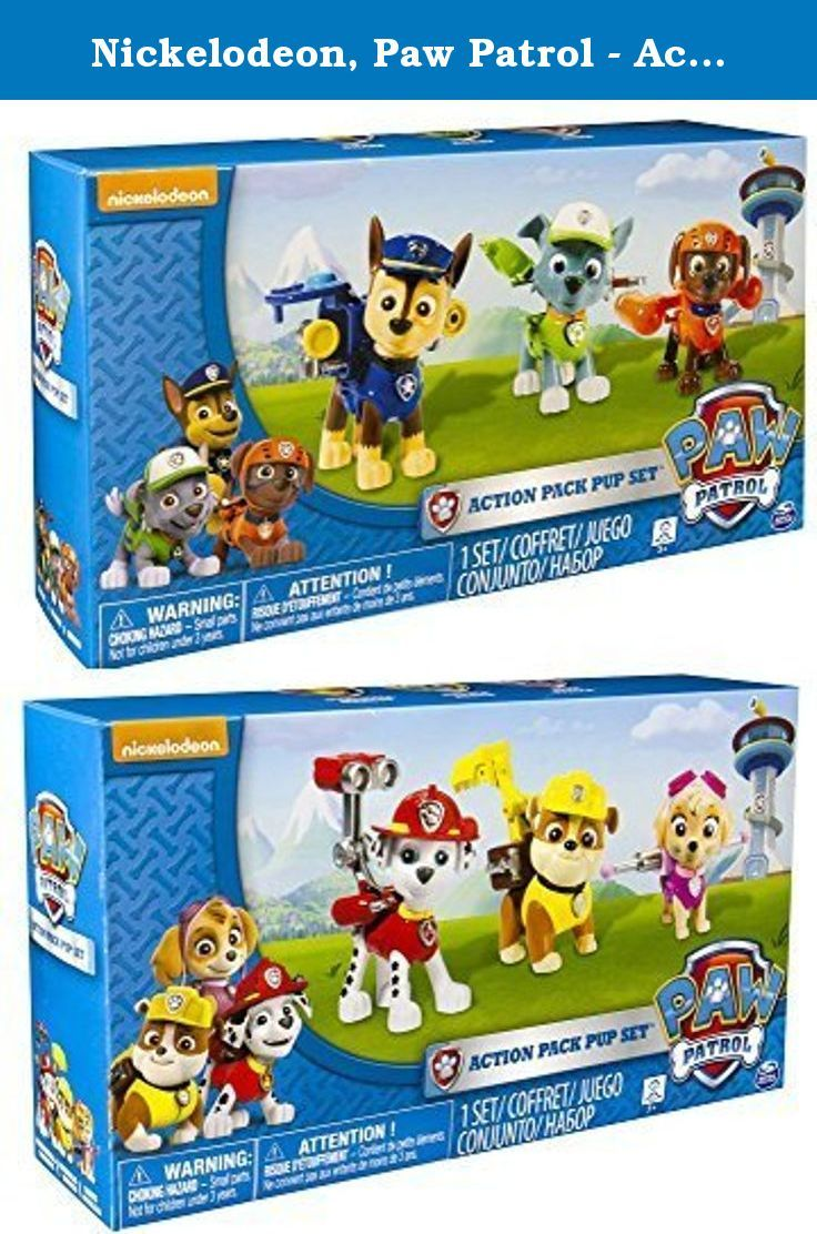 Quatang Gallery- Nickelodeon Paw Patrol Action Pack Pups Two 3pk Figure Sets Bundle Marshal Skye Rubble And Chase Rocky Paw Patrol Characters Paw Patrol Gifts Kids Toys