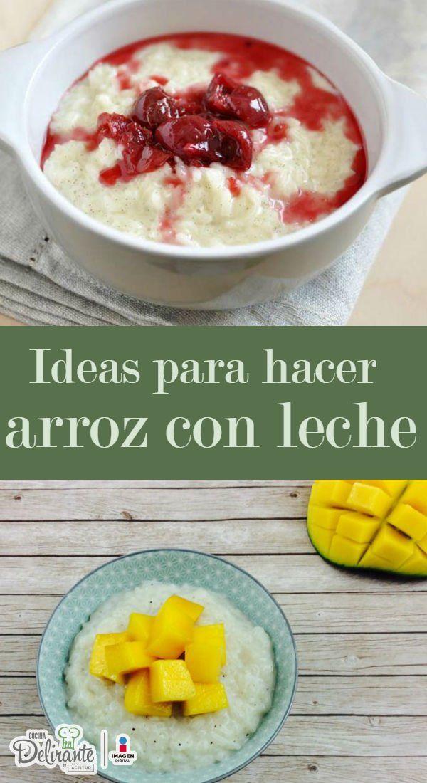 Prueba estas ideas para preparar arroz con leche diferente | Comidas ...