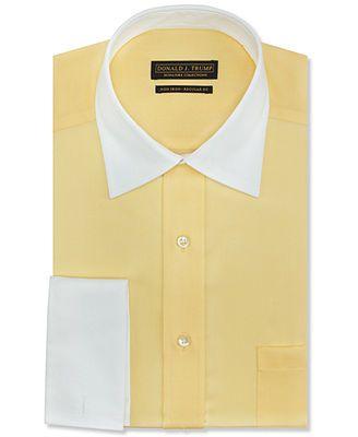 Yellow dress shirt french cuffs