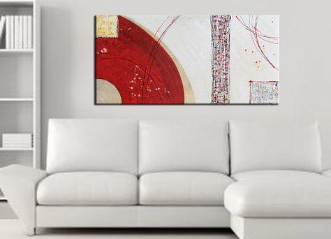 Quadri astratti moderni dipinti a mano su tela