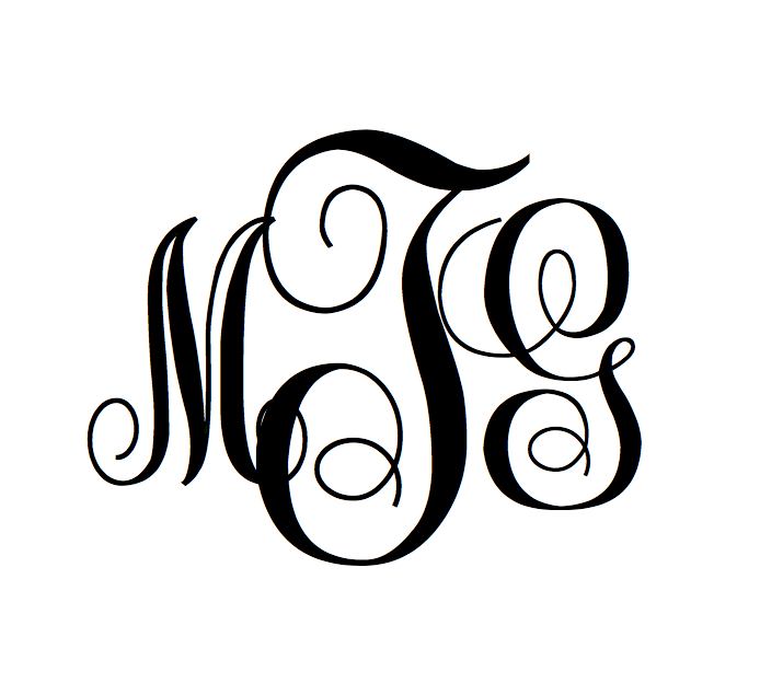 Freebie! Create Your Own Swirly Monogram Online! Download