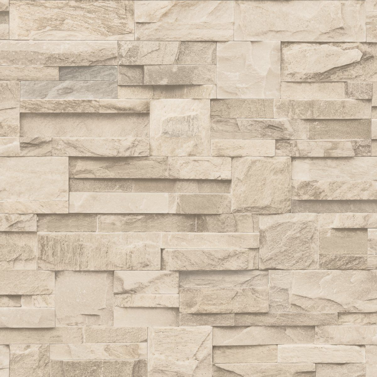 Textured Brick Wallpaper Uk Part - 22: NEW LUXURY MURIVA SLATE STONE BRICK WALL EFFECT TEXTURED VINYL WALLPAPER  BEIGE J27407: Amazon.