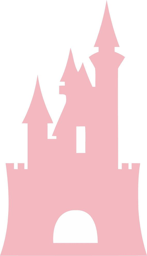 Disney Castle Princess L X HPink Cinderella Girls Vinyl Wall - How to make vinyl wall decals with silhouette