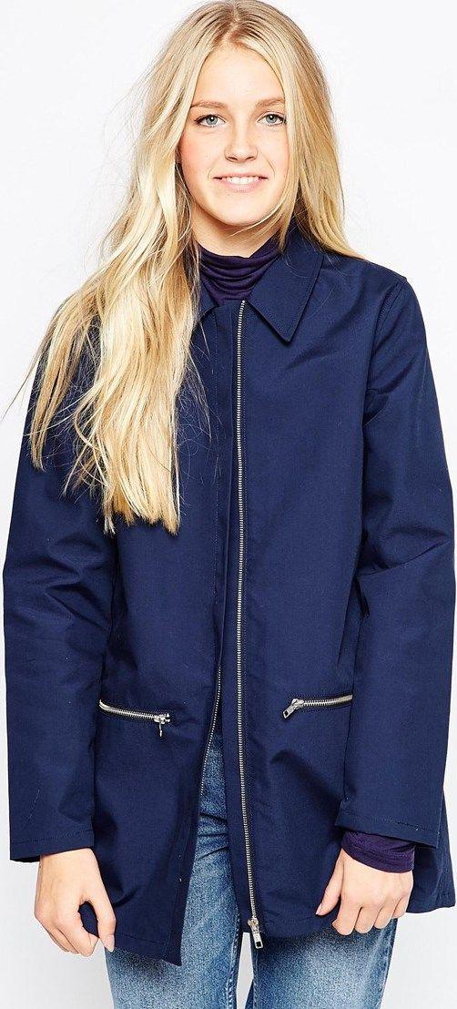 Abrigo mujer azul marino ASOS - Stileo.es  a1c9b999da4c